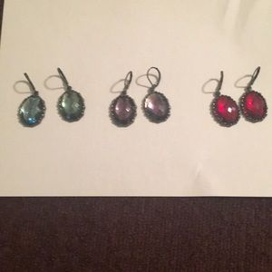 3 pairs of wire earrings